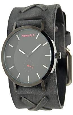 Nemesis Men's Quartz Stainless Steel and Leather Casual Watch