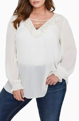 Addition Elle LOVE AND LEGEND Dot Tunic Blouse