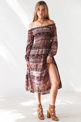 Kimchi Blue Jannie Off-The-Shoulder Midi Dress $79 thestylecure.com