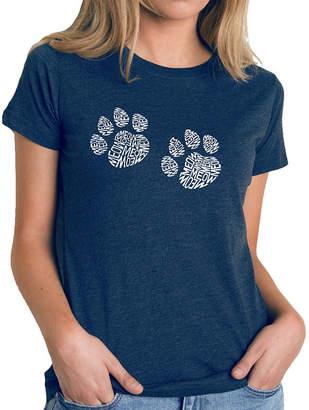 LOS ANGELES POP ART Los Angeles Pop Art Women's Premium Blend Word ArtT-shirt - Meow Cat Prints