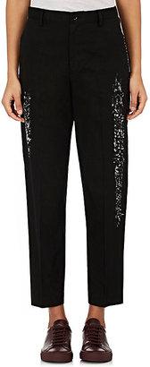 Yohji Yamamoto Women's Sponge-Painted Linen-Cotton Trousers $1,500 thestylecure.com