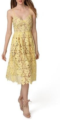 Women's Donna Morgan Spaghetti Strap Lace Midi Dress $148 thestylecure.com