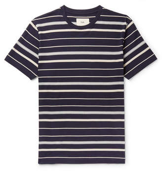 Folk Striped Cotton-Jersey T-Shirt - Navy