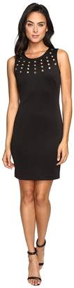 Jessica Simpson Solid Scuba with Gold Grommets Women's Dress