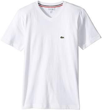 Lacoste Kids Short Sleeve Solid V-Neck T-Shirt Boy's T Shirt
