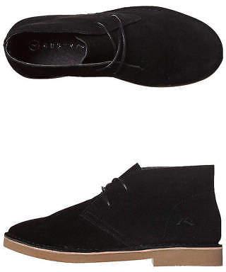 Rusty New Women's Anja Desert Boot Rubber Canvas Leather Black