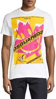 DSQUARED2 Graphic Cotton Blend Tee