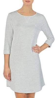 Lauren Ralph Lauren Three-Quarter Sleeve Short Gown