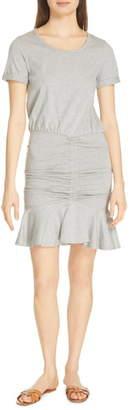 Veronica Beard Flounce Skirt T-Shirt Dress