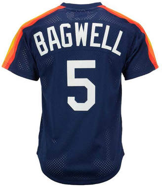 Mitchell & Ness Men Jeff Bagwell Houston Astros Authentic Mesh Batting Practice V-Neck Jersey