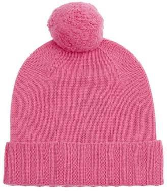 Johnstons of Elgin Cashmere Pom Pom Beanie Hat