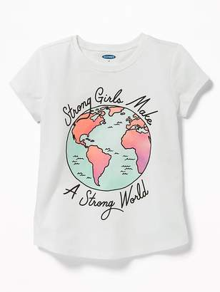 Old Navy Long & Lean Graphic Scoop-Neck Tee for Toddler Girls