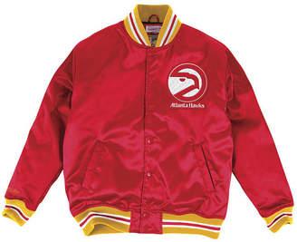 Mitchell & Ness Men Atlanta Hawks Satin Jacket