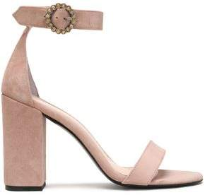Maje Crystal-Embellished Suede Sandals