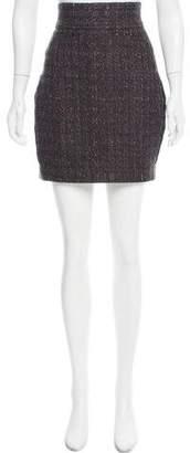 Brian Reyes Bouclé Mini Skirt