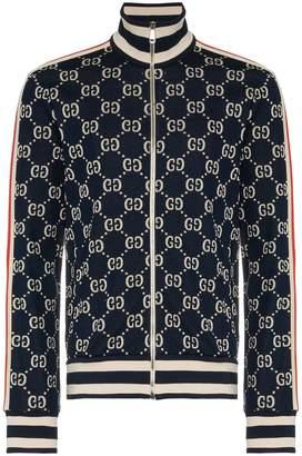 Gucci Jaquard logo print long sleeve track top