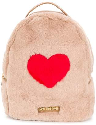 Love Moschino faux fur backpack