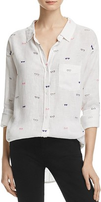 Rails Charli Sunglasses Print Button-Down Shirt $148 thestylecure.com