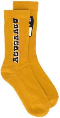 Reebok logo patch socks