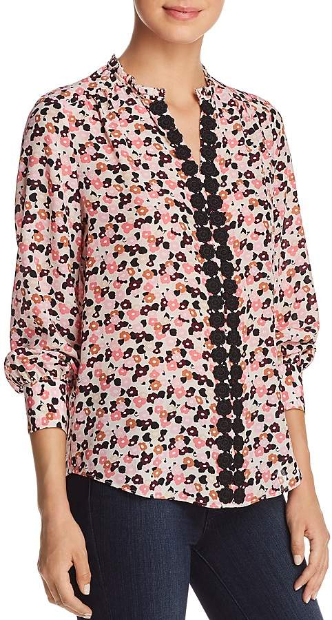 kate spade new york Small Blooms Silk Blouse
