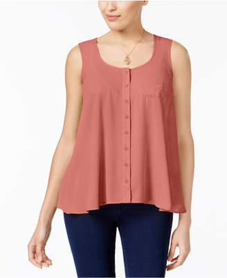 Style&Co. Style & Co Petite Button-Front Blouse