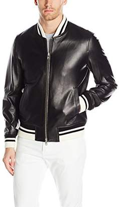 Slate & Stone Men's Patrick Leather Bomber Jacket