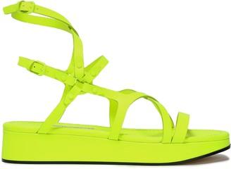 Jimmy Choo Neon Leather Platform Sandals