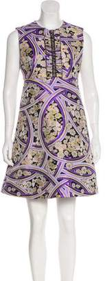 Giamba Sleeveless Brocade Dress