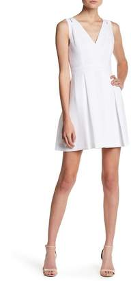 BCBGeneration Lace Accent Fit & Flare Dress