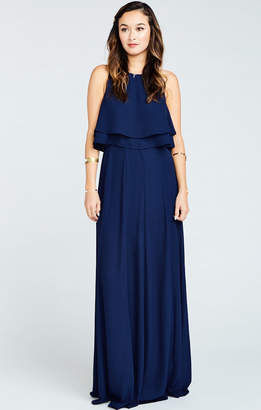 Show Me Your Mumu King Bridesmaids Crop Top ~ Rich Navy Crisp