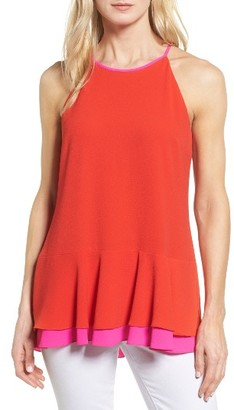 Women's Vince Camuto Colorblock Halter Style Top $89 thestylecure.com
