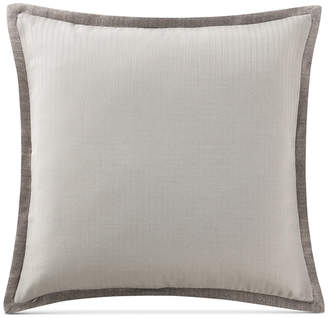 Waterford Charlize Reversible Herringbone-Stripe Gray European Sham