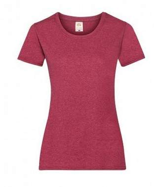 Fruit of the Loom Ladies/Womens Lady-Fit Valueweight Short Sleeve T-Shirt (M) (Vintage Heather Red)