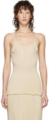 LAUREN MANOOGIAN Beige Accordion Camisole
