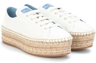 Prada Platform leather sneakers
