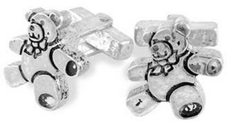 Torrini Sterling Silver Teddy Bear Cufflinks