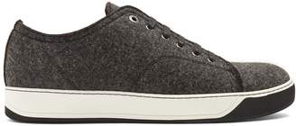 Lanvin Lace-up wool low-top trainers
