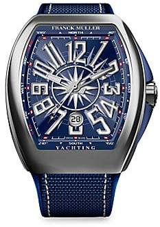 Franck Muller Women's Yachting Vanguard Stainless Steel & Rubber-Strap Watch