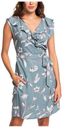 Roxy Juniors' Ruffled Wrap Dress