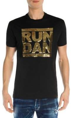 DSQUARED2 Run Dan Sequin Cotton Tee