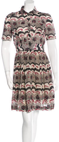 Burberry Burberry Brit Printed Shirt Dress