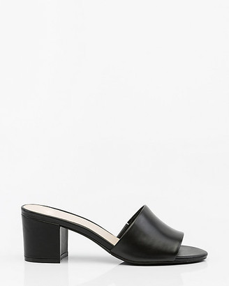 Le Château Leather Open Toe Slide