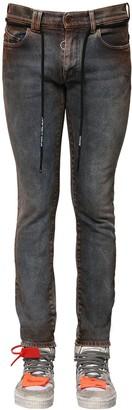 Off-White Off White Skinny Cotton Blend Denim Jeans