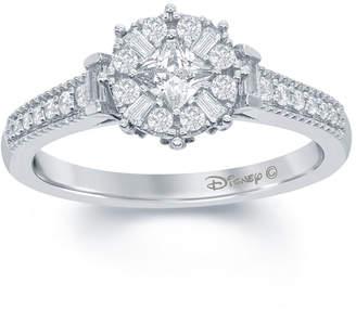 ENCHANTED FINE JEWELRY BY DISNEY Enchanted Disney Fine Jewelry 1/2 C.T. T.W. Diamond 10K White Gold Frozen Snowflake Ring