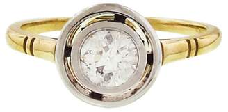 Lori McLean Floating European Cut Diamond Ring