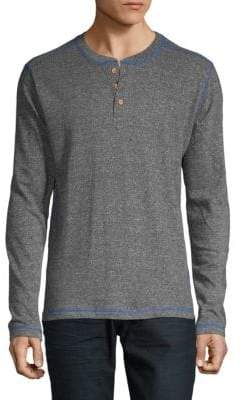 Long-Sleeve French Terry Henley