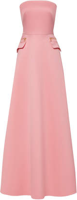 Brandon Maxwell Strapless Pocket-Detailed Cotton Gown