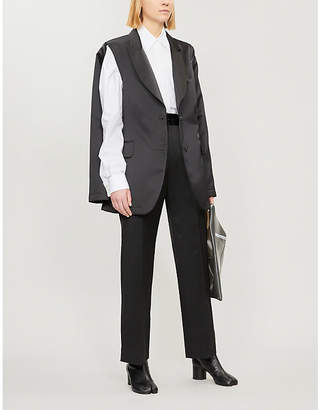 MM6 MAISON MARGIELA Deconstructed satin blazer
