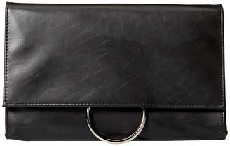 Jessica McClintock Nora Ring Flap Clutch Clutch Handbags