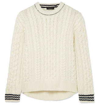 Rag & Bone Brighton Cable-knit Wool Sweater - Ivory
